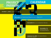 Project Passion Call for Entries Website - Calendar