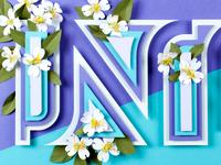 North Carolina - Paper State Flowers