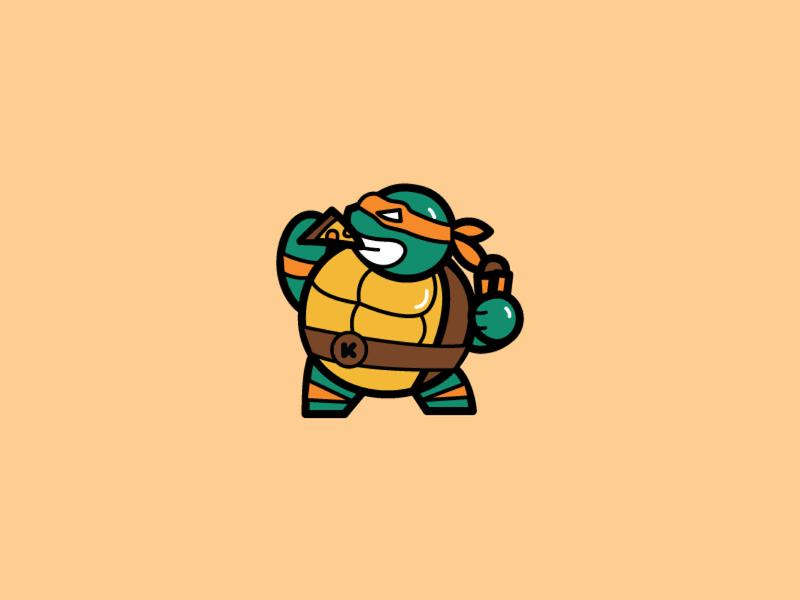 FED - Mikey illustration ninja turtle iconic fat fed tmnt
