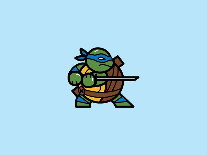 FED - Leo sticker fed iconic turtle leo ninja turtle ninja tmnt