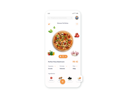 Single Item - Daily UI #012 pizza app daily ui app design daily ui challenge dailyui