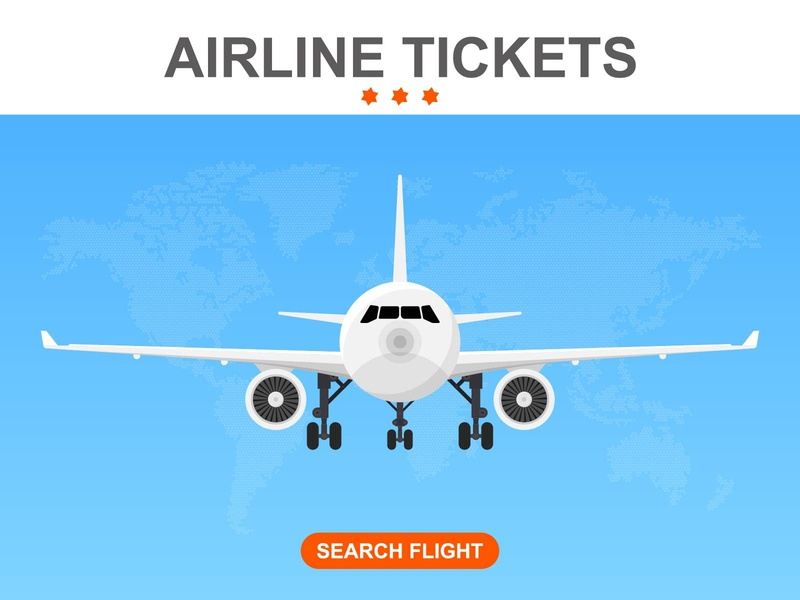 SEARCHING FLIGHTS BANNER card interface template technology journey plan book web buy communication network tourism ticket app registration banner online flight vector