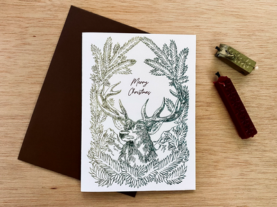 Christmas Card print illustration
