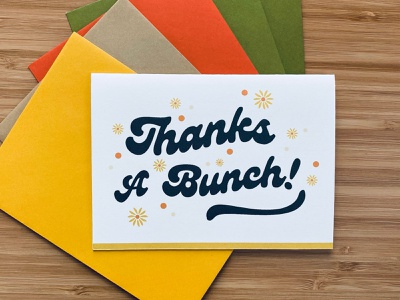Thanks A Bunch Card Pack vector print typography design