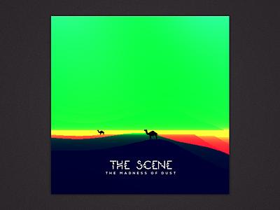 Album art for THE SCENE album cover album art pixel art camel desert rainbow celeb dust sound track badhon ebrahim graphcoder band