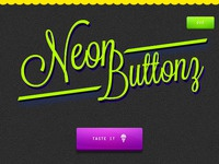 Neon button psd by graphcoder preview