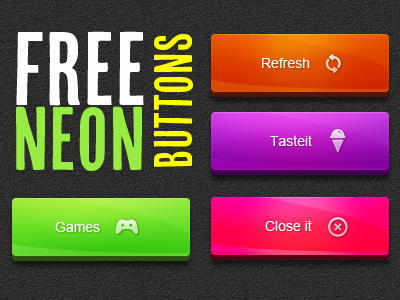 Free Neon Button PSD  twitter icon button web button psd freebie neon ui ux iphone ipad graphcoder