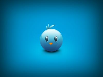 Cute Twitter Icon icon app twitter cute glossy sweet baby twitter bird blue