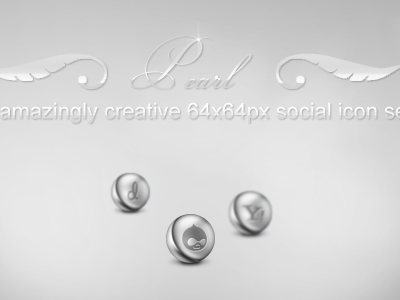 Pearl Social Media Icons social icon icons pearl silver metal dribbble facebook psd freebie free vector twitter yahoo wordpress custom shapes social media