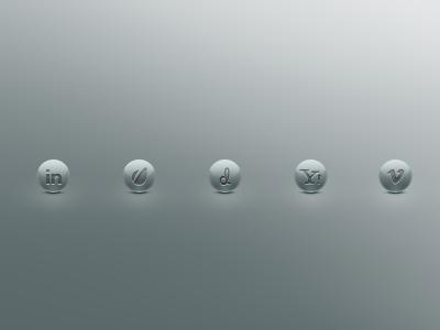 Cute Ball Social Icons dribbble social social icons cristal envato vimeo linkedin icons yahoo embossed letter pressed