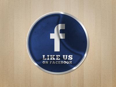 Facebook Sticker retro facebook social sticker badge texture grunge like share wood blue stamp illustration photoshop tag vintage