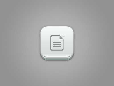 File Plus Ios  Icon  app soft grey plus file apple mac iphone ipad graphcoder candy