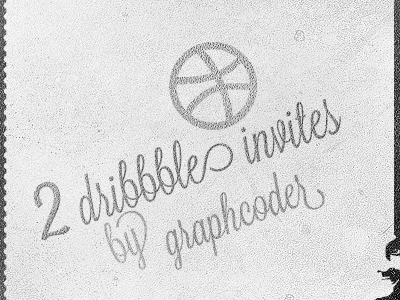 Dribbble Invite ticket invitation grunge retro rash ball dribbble invite dribbble note