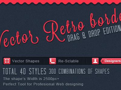 Vector Border PSD border vector shapes vector psd premium retro vintage fancy web design shop chart store dashes html5