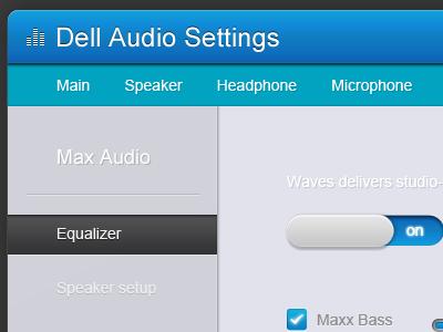 Dell audio settings