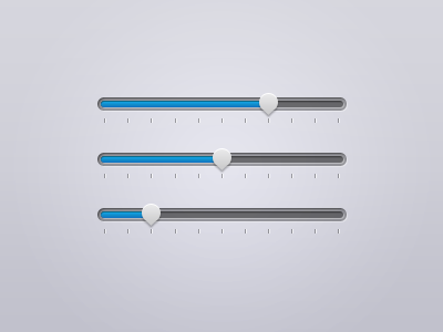 Clean sliders ui interface cool clean user simple slider stylish mini blue miter