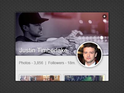 Instagram Widget [PSD] instagram widget psd ui mini interface cover avatar freebie free