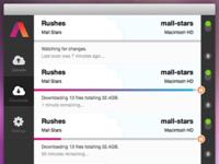 Downloads in the Aframe desktop app