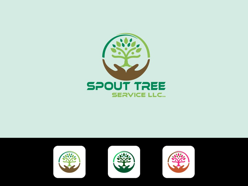 Hand Tree Modern Business Logo Design Template logogrid logoconcept logotype logoidea logoshop logomark tree branding tree skech tree logo hand logo illustration tech logo logo business icon branding and identity flat abstract icon design branding design
