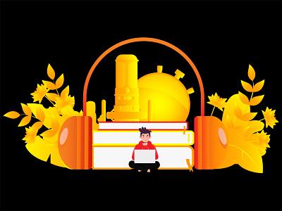 Audio Books Creator illustration ui design landing page web design flat illustration