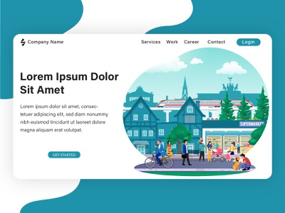 Landing page illustration, project from my client. banner web design flat design flat graphic design design illustration vector flat illustration