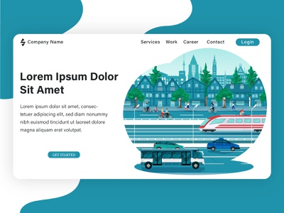 Landing page illustration, project from my client. web illustration brand design web design banner flat flat design graphic design vector illustration flat illustration design
