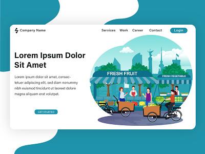 Landing page illustration, project from my client. vector web design banner flat design flat branding design illustration flat illustration brand design design