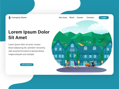 Landing page illustration, project from my client. banner flat design web design flat graphic design vector branding design branding illustration flat illustration design