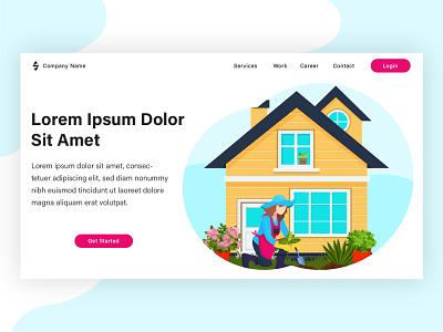 Home Care. Landing page illustration. project from my client. landing page vector illustration flat design banner web design flat brand design design vector illustration flat illustration