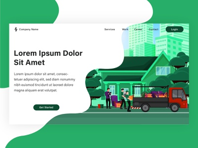 Landing page illustration project for my client. vector illustration banner landing page graphic design vector web design illustration flat illustration design