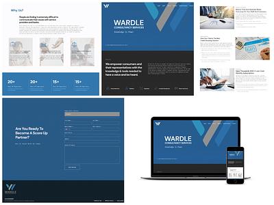 Wardle Consultancy web ui ux design branding