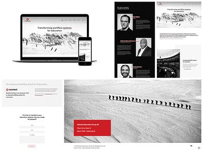 Helvetia Education graphic design web ui ux design branding