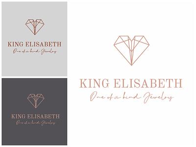 King Elisabeth Logo typography graphic design vector illustration logo design branding