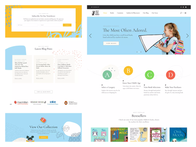 Best Kids Books ui ux logo typography graphic design design branding