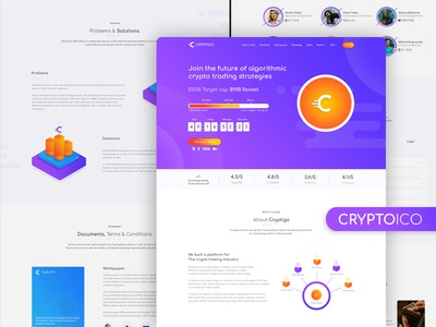 Crypto ICO - Cryptocurrency Website Landing Page HTML admin agency bitcoin blockchain bootstrap4 crypto cryptocurrency dashboard ico investments trading wallet