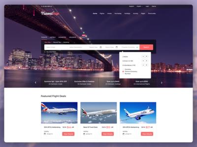 TravelTrip - Travel, Tour, Flight & Hotel Booking Template