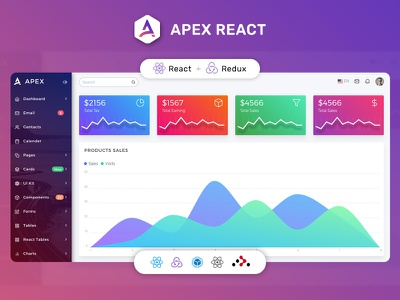 Apex React Redux Bootstrap Admin Dashboard workable app web app redux thunk redux reactstrap reactjs react.js react material design material create react app bootstrap react bootstrap admin template admin dashboard