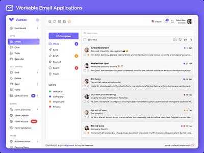 Vuexy - Vuejs, HTML & Laravel Admin Dashboard Template vuejs dashboard vuejs app vuejs admin vue2 vue cli material dashboard dark layout chat admin
