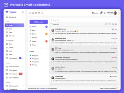 Vuexy - Vuejs, HTML & Laravel Admin Dashboard Template