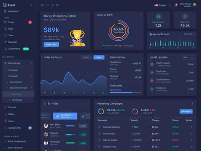 Frest - Clean & Minimal Bootstrap Admin Dashboard Dark