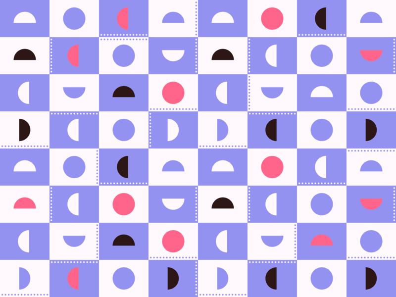 Daily Pattern - 11 25 19 geometric pattern circles dots gray white pink purple geometric shapes pattern