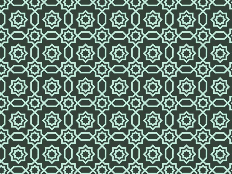 Daily Pattern - 12 07 19 geometry line art blue tile pattern arabic teal