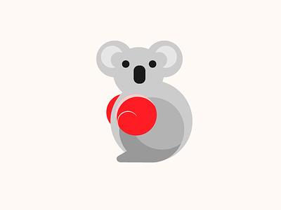 Koala the Boxer boxing koala illustration