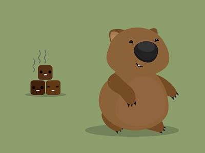 Wombat illustration wombat