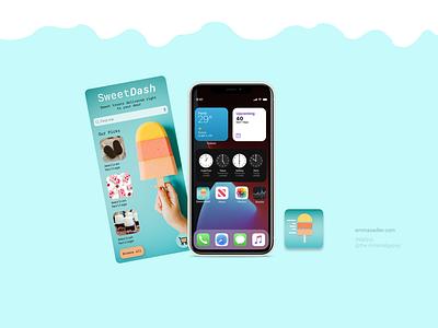 SweetDash, App design ux dailyui004 design dailyui dailyuichallenge daily ui
