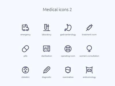 Medical icons 2 emergency laboratory baby syringe thermometer medicine web icons