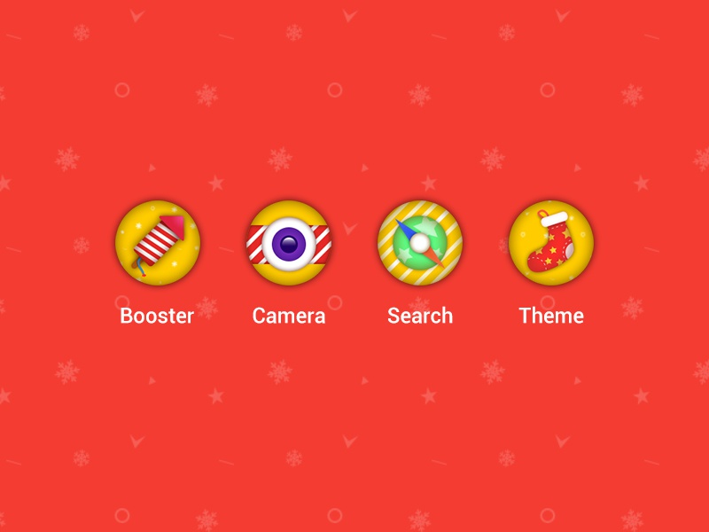 Xmas icon for Omniswipe christmas sock compass firecrackers theme search camera booster