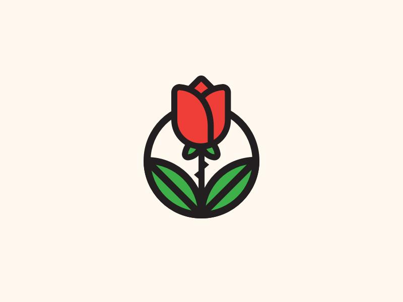 Rose rose plant logo leaf illustration flower badge