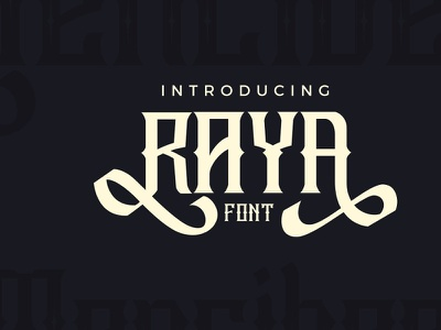 Raya Vintage Swash Font raya vintage swash font raya vintage swash font