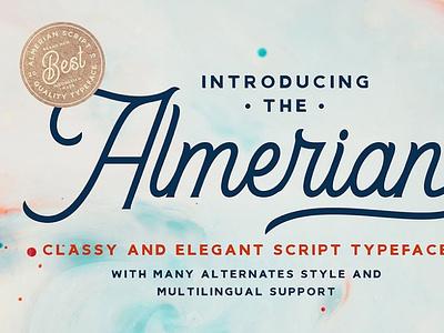 Almerian Retro Script Font